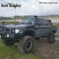 """Kut Snake Flares Suit Toyota Hilux Pre 2004 """"Front Only"""""""