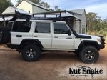 """Kut Snake Flares Suit Toyota Landcruiser 76 Series """"Front Only"""""""